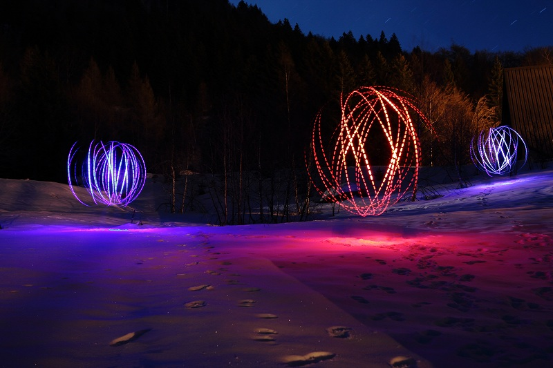 Spheres Light Painting 2012